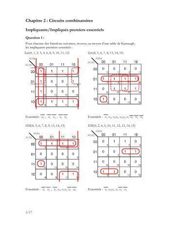 Combinatoire livret 2 son p for Circuits combinatoires