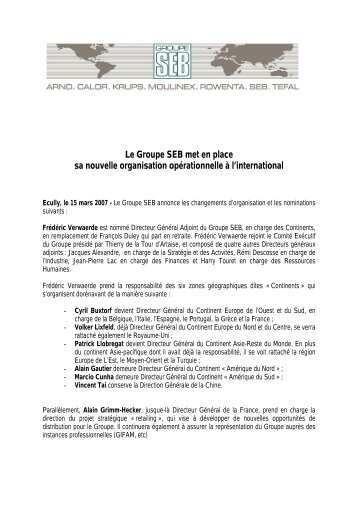 Télécharger le document - Groupe SEB