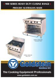 900 Series Heavy Duty Cuisine Range - Group Maintenance