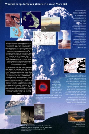 Waarom er op de Aarde een atmosfeer is en op Mars niet + ...