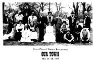 Our Town - the Grove Players