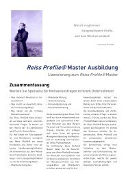 Reiss Profile® Master Ausbildung - Grow.up. Managementberatung ...