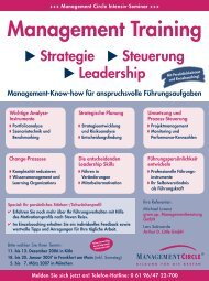 Management Training 2007 - Grow.up. Managementberatung GmbH
