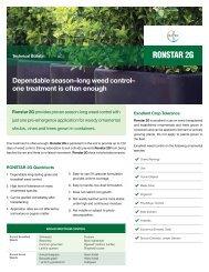 Ronstar 2G Tech Sheet