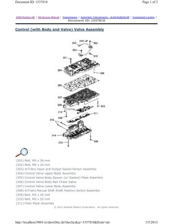 Control (with Body and Valve) Valve Assembly Page 1 of 2 ...
