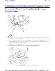 Transmission Fluid Cooler Hose/Pipe Replacement - GRRRR8.net