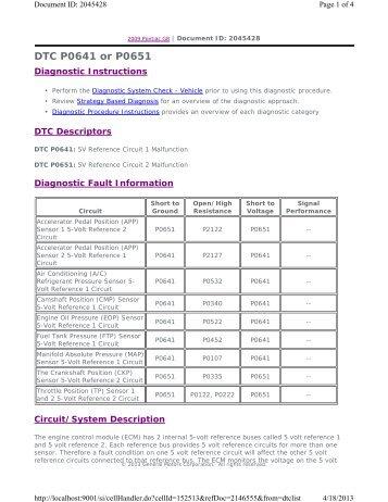 DTC P0641 or P0651 - GRRRR8.net