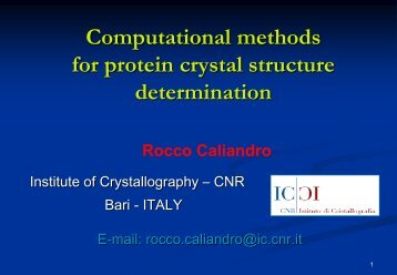 Computational methods for protein crystal structure determination