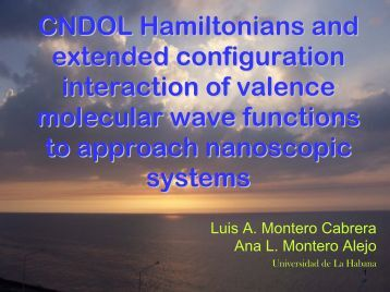 CNDOL Hamiltonians and full configuration interaction of valence ...