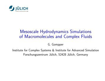 Mesoscale Hydrodynamics Simulations of Macromolecules and ...