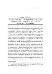Edmond Préteceille* L' EVOLUTION DE LA SEGREGATION ...
