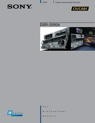 DSR-2000A - Sony