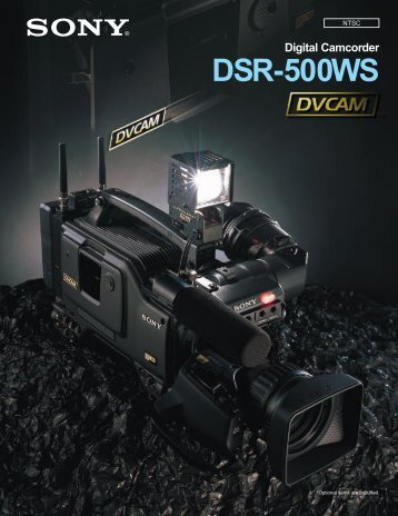 Digital Camcorder DSR-500WS - GRS Systems