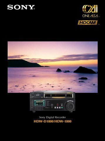 HDW-D1800/HDW-1800 - GRS Systems