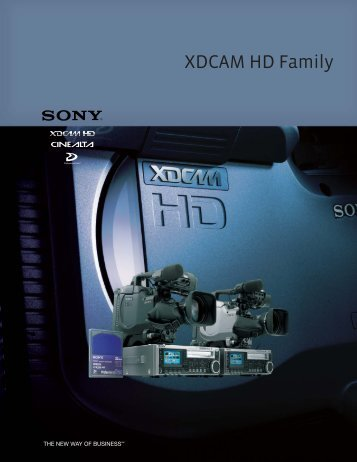 XDCAM HD Family Brochure - Full Compass
