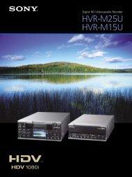 Digital HD Videocassette Recorder HVR-M25U HVR-M15U