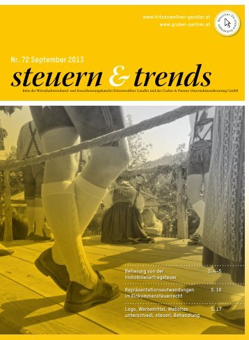 Steuern & Trends September 2013 - Gruber & Partner ...