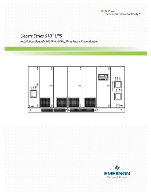 Emerson network power manual