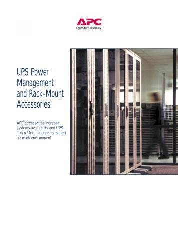UPS Power Management and Rack-Mount ... - Gruber Power