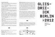"""Flyer """"Gleisdreieck Berlin 2012"""""""