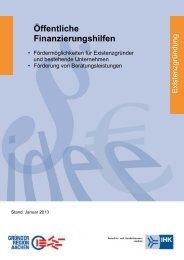 Öffentliche Finanzierungshilfen - und Handelskammer Aachen