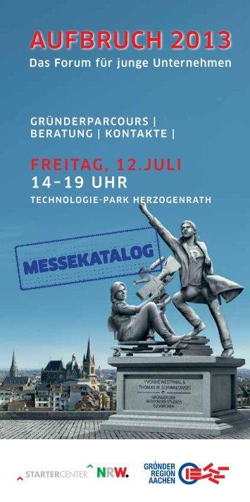 Messekatalog - GründerRegion Aachen