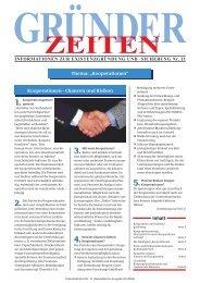 """Kooperationen - Chancen und Risiken Inhalt Thema: """"Kooperationen"""""""