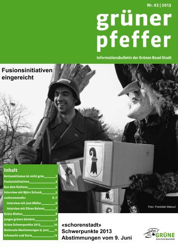 Fusionsinitiativen eingereicht - Grüne Partei Basel-Stadt