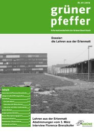 Grüner Pfeffer Nr. 01-2013 - Grüne Partei Basel-Stadt