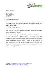 Vernehmlassung Entwicklungskonzept Badischer Bahnhof