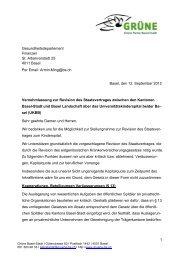Vernehmlassung zur Revision des Staatsvertrages zwischen den ...