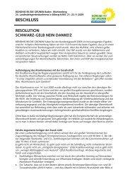 Beschluss Schwarz-gelb nein danke - BÜNDNIS 90/DIE GRÜNEN ...