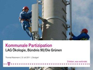 Mobilfunk & Kommunale Partizipation Thomas Nasemann (Telekom)