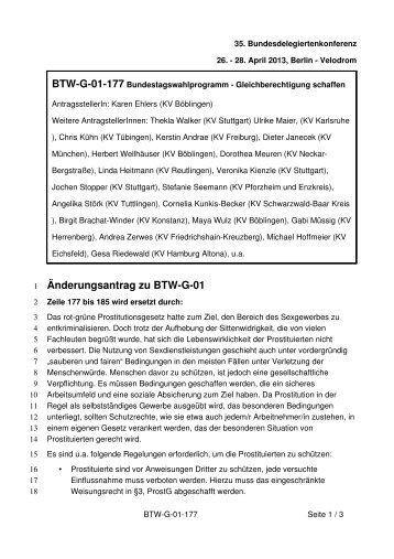 Anträge zum Bundesparteitag 2013 aus Reihen der LAG ...
