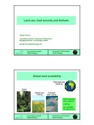 Land use, food security and biofuels Global land availability