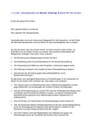 13.12.2001 Haushaltsrede von Werner Schering ... - Grüne Düren