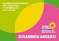 ZUSAMMEN ANDERS! - Bündnis 90/Die Grünen Düsseldorf