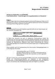 Antwort Auswirkungen auf Langzeitarbeitslose in Düsseldorf - Bü90 ...
