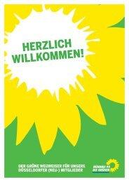 HERZLICH WILLKOMMEN! - Bündnis 90/Die Grünen Düsseldorf