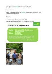 Stadtteilgruppe Juni Juli 2013