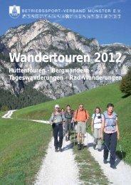 Wandertouren 2012 - Betriebssport-Verband Münster