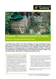 Selbst kompostieren - Umweltberatung