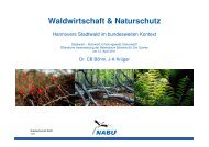 Waldwirtschaft & Naturschutz - Hannovers Stadtwald im ...