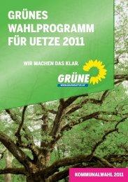 WahlprogrammUetze.indd 1 08.07.2011 12:28:07 Uhr - Grüne in der ...