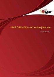 IAAF Calibration and Testing Manual - Asian Athletics Association