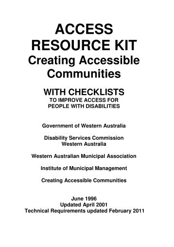 Access Resource Kit (ARK) - Disability Services Commission