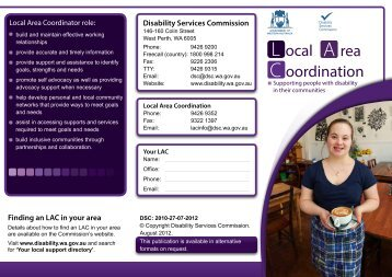 Supporting people with disability in their communities - brochure