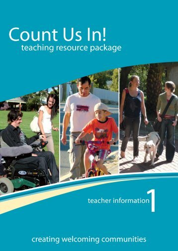 Booklet 1: teacher information - Disability Services Commission