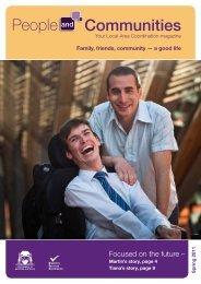 People and Communities spring 2011 - Disability Services ...