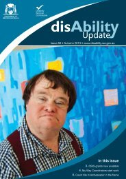 Autumn 2013 - Disability Services Commission